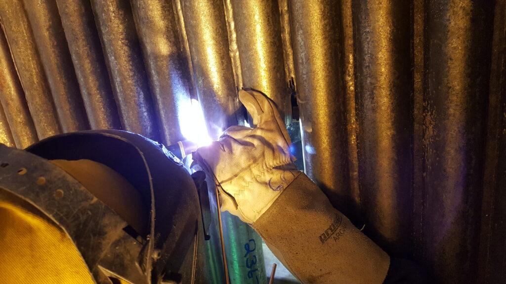 Boiler tube sheet welding