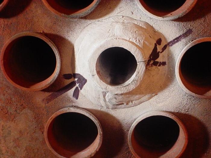 Boiler tube plate