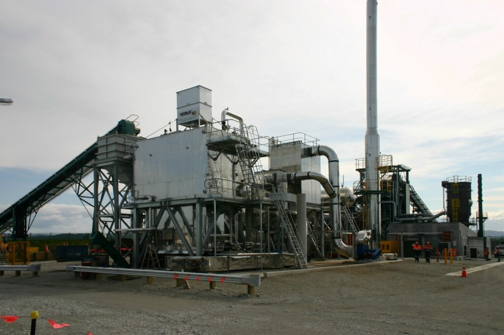 South Island New Zealand - briquette plant - coal fired & gas fired