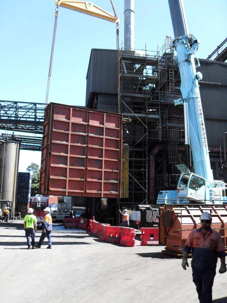 Economiser replacement at Manildra Starches NSW Australia