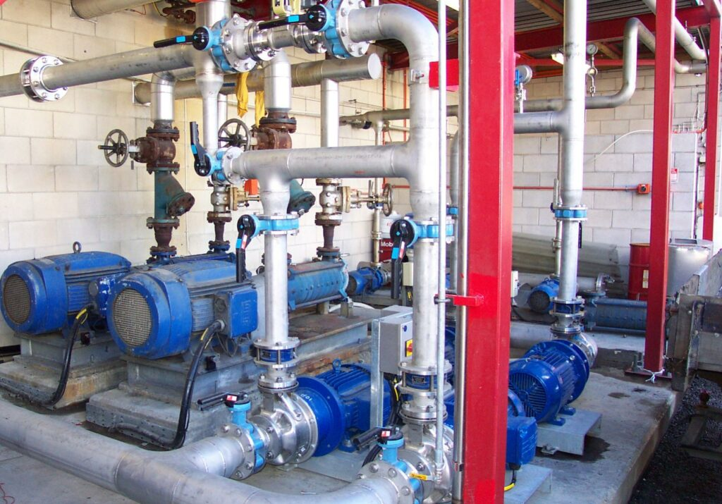 Feed pump and transfer pump station