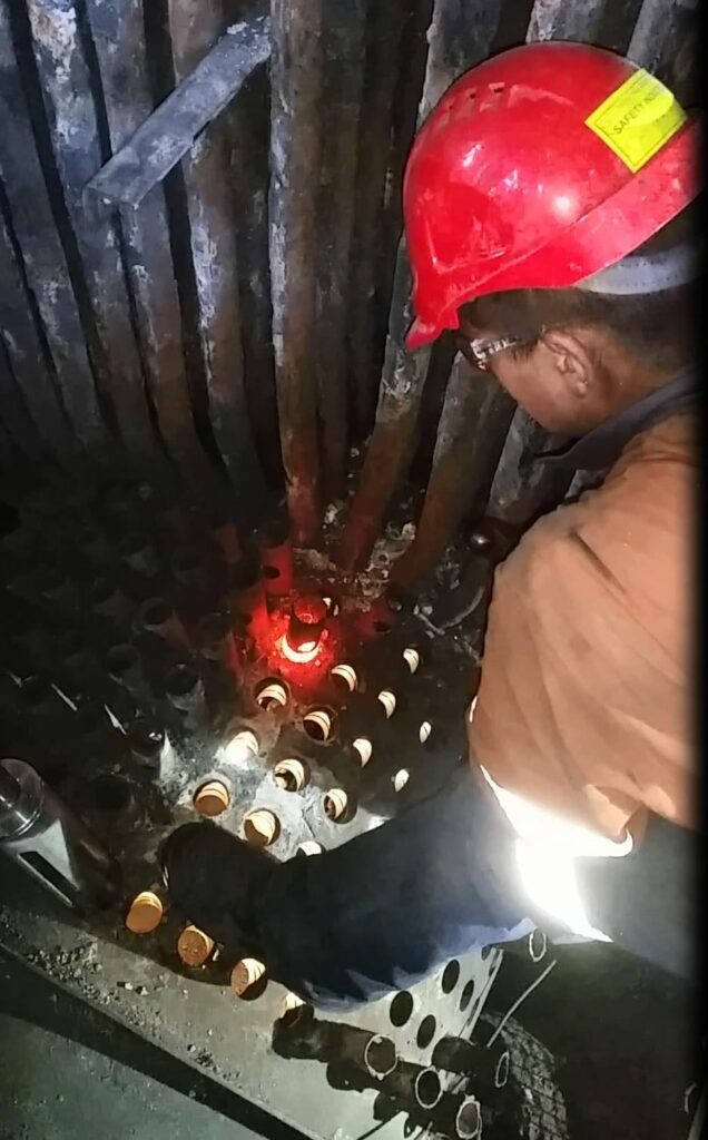 Induction tube removal - boiler tube removal