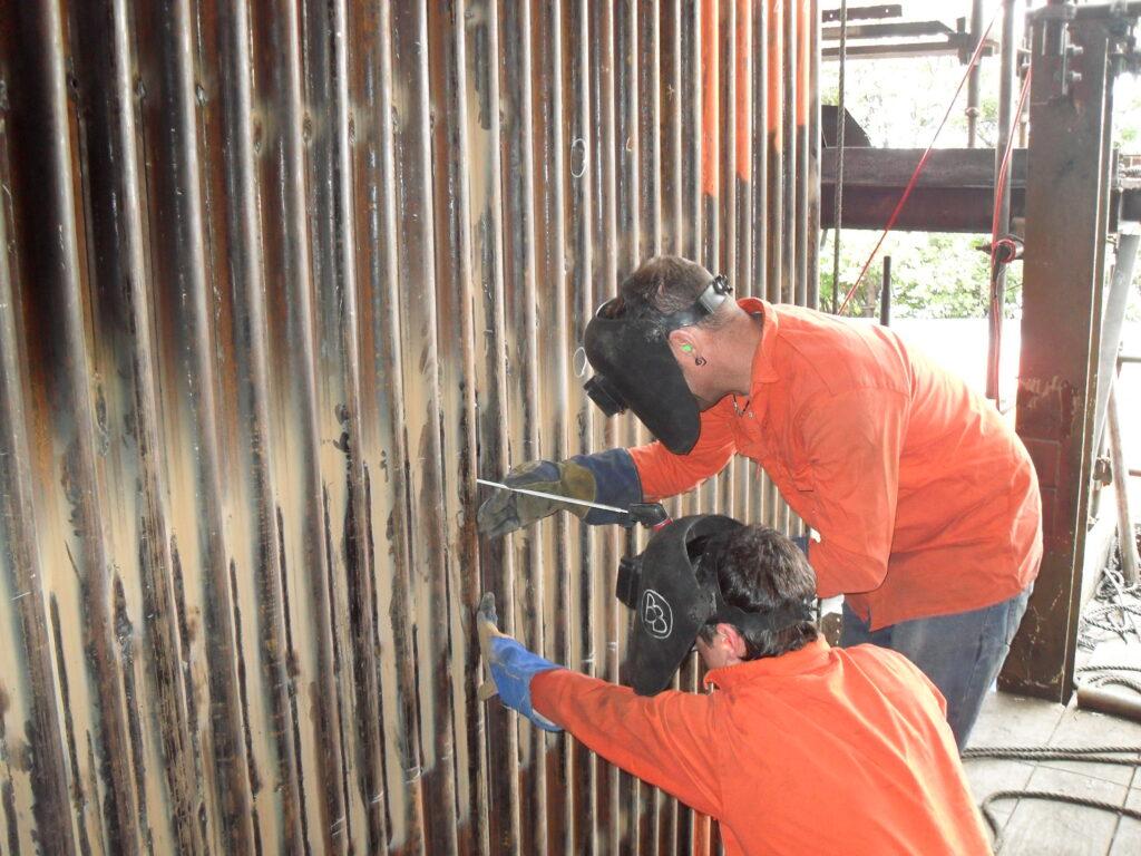 Tacking Wall tubes at Manildra starches